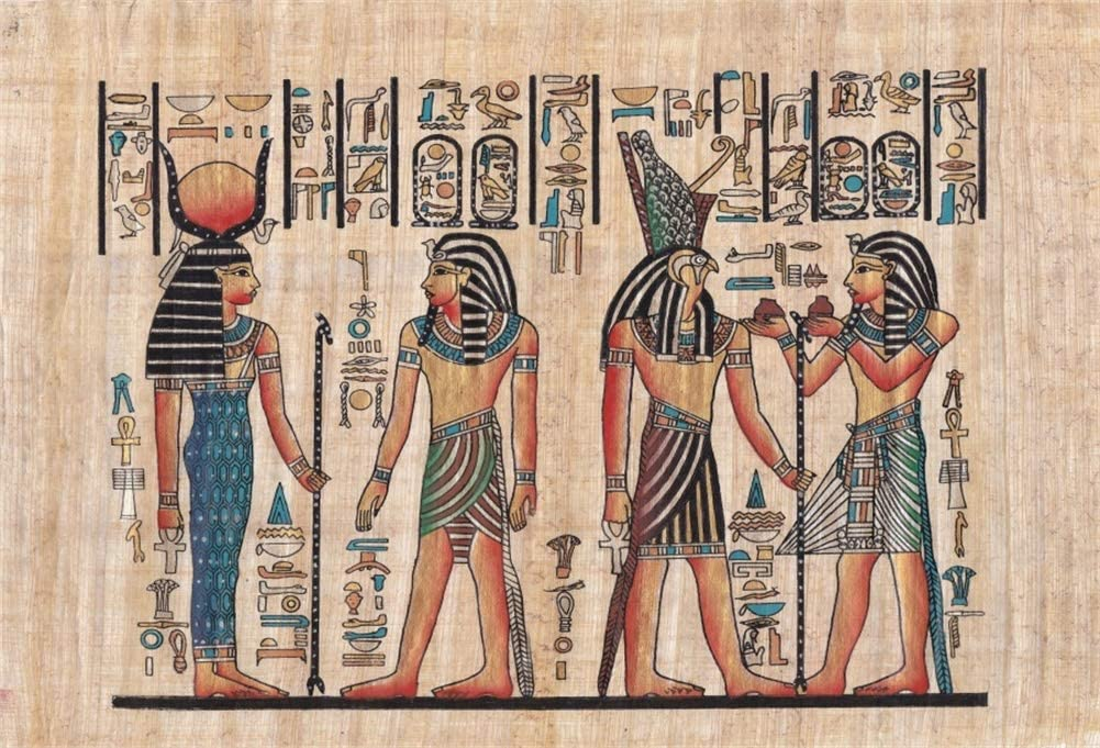 8x6.5FT Polyester Photography Background Egyptian Mural Wall Color Painting Drawing Pharaoh Scene Historic Culture Art Personal Shooting Backdrops Egypt Art Wedding Party Video Studio Props