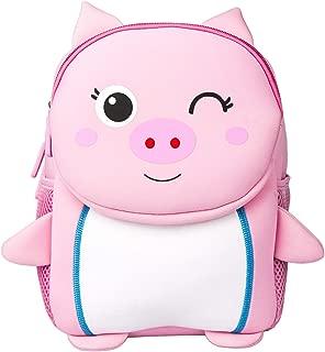 Toddler Baby Backpack 3D Waterproof Kindergarten Backpack Animal Preschool Backpack for Kids Girl Boy (Pig Pink)