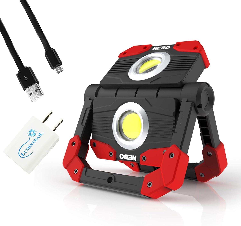 Nebo OMNI Detroit Mall 2K Rechargeable Work Light LED 2000 and Seattle Mall Lumen Po