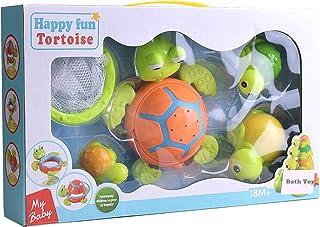 Konig Kids Floating Turtle Bath Toy Set Swimming Bathtub Pool Toys