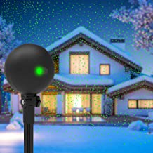Christmas Lights Projector Laser Light Xmas Spotlight Projectors Waterproof Outdoor Landscape Spotlights for Holiday Halloween Yard Decorations