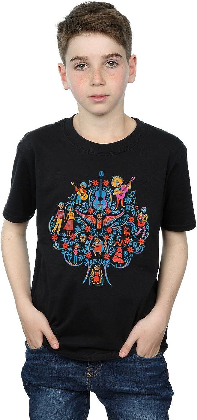 Disney Boys Coco Tree Pattern T-Shirt 9-11 Years Black