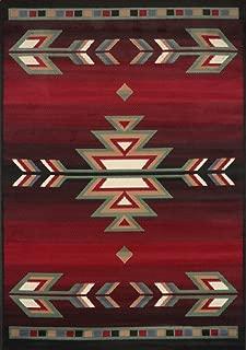 Home Dynamix Sagrada Southwest Area Rug 3x5 Black/Red/Ivory