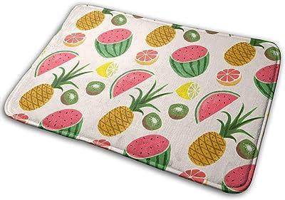 Non-Slip Doormats Watermelon Entrance Rug Indoor/Outdoor Carpet Absorbs Moisture Washable Dirt Trapper Mats