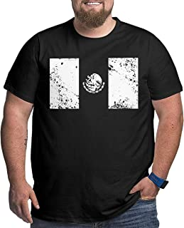 XPEACH Men's Plus-Size T-Shirt Mexico Flag 3 Big and Tall Short-Sleeve Large Size Tee