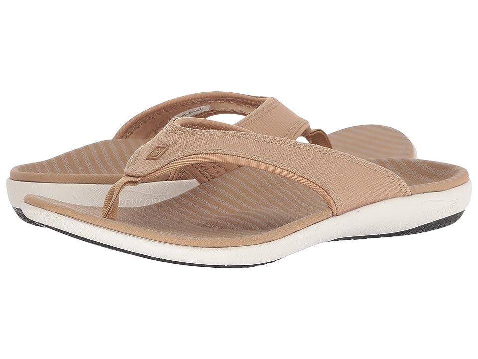 Spenco Yumi Canvas Stripe Sandal (Tan) Women