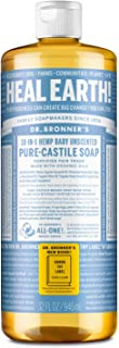 Dr. Bronners - Pure-Castile Liquid Soap (Baby Unscented, 32 Ounce) - Made with Organic Oils, 18-in-1 Uses: Face, Hair, Lau...