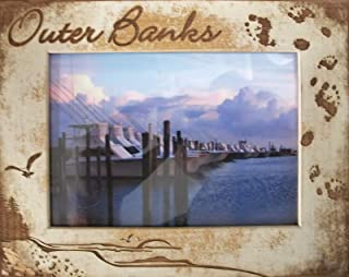 Outer Banks North Carolina Laser Engraved Wood Picture Frame (5 x 7)