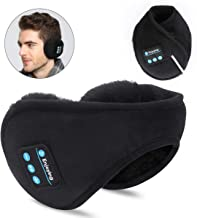 Bluetooth Earmuffs Headphones,SKYEOL Bluetooth 5.0 Wireless HD Stereo Music Ear Warmer, Foldable Wool Warmer with Mic Built-in Stereo Speakers for Winter Outdoor Men Women & Kids