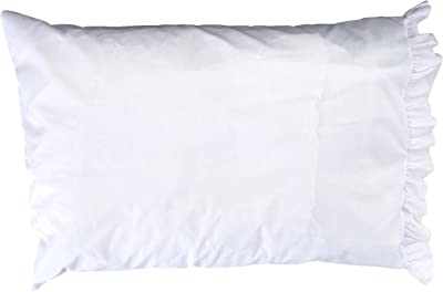 Fairway Needlecraft 82511 Vintage Ruffled Edge Pillowcases, Butterfly Lady Design, Standard, White
