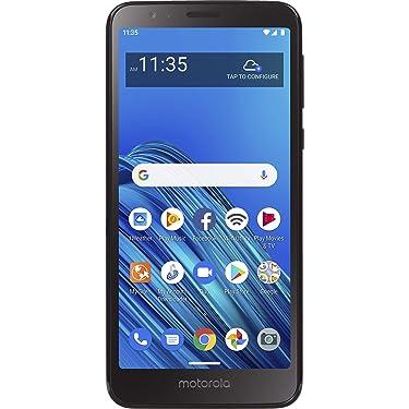 Simple Mobile Motorola Moto E6 4G LTE Prepaid Smartphone (Locked) - Black - 16GB - Sim Card Included - GSM