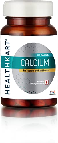 HealthKart Calcium with Vitamin D3 for complete bone health 60 capsules Calcium 60 Tablets