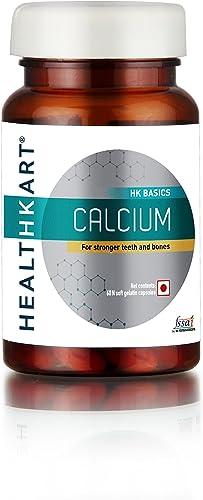 Healthkart Calcium With Vitamin D3 For Complete Bone Health 60 Capsules Calcium 60 Tablets