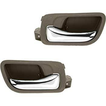 Amazon Com Dorman 79542 Front Driver Side Interior Door Handle For Select Honda Models Black And Chrome Automotive