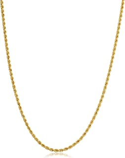 14k Yellow Gold Filled 2.1mm Rope Chain Necklace (16, 18, 20, 22, 24, 26, 30 or 36 inch)