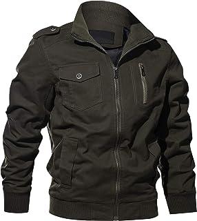 Sponsored Ad - WULFUL Men's Cotton Military Jackets Casual Outdoor Coat Windbreaker Jacket