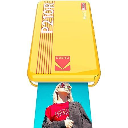 コダック(Kodak)Mini 2レトロ スマホプリンター/インスタントプリンター/チェキプリンター[イエロー/写真 5.3x8.6cm] プリンター + 8シート入り