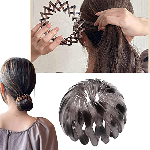 discount Ponytail popular Holder Clips Hair Claw Clip Hair Accessory Expandable Bird Nest Hair Clip for outlet sale Women Girls, (G) sale