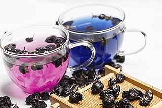 JQ Organic Lycium Chinense Ningxia Black Goji, Diameter 3-4mm Goji Berry Lycium Barbarum Wolfberry for Tea Juice Baking Soup,2 LB