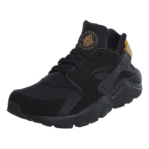 bedb1d3770d2 Nike Mens Air Huarache Black Metallic Gold Synthetic