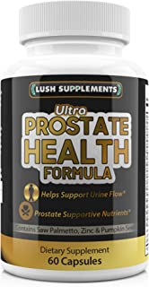 Ultra Prostate Health Supplement Pill Capsule Vitamin - Maximum Strength Prostate Supplement For Men With Saw Palmetto, Pumpkin Seed & Prostate Supportive Nutrients Helps Frequent Urination, Hair Loss
