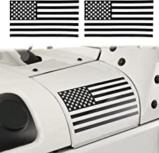 Hooke Road American Flag Sticker Body Decals Decoration for YJ TJ JK Jeep Wrangler & Unlimited(Pair)