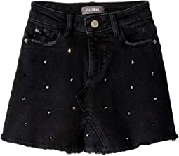 Jenny Mini Skirt with Raw Hem and Rhinestones (Big Kids)