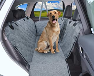 Dog Car Seat Cover, 100% Waterproof Premium Dog Car Hammock with Visible Mesh Window, Nonslip Backing, Durable Dog Seat Co...