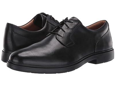 Clarks Un Tailor Tie (Black Leather) Men