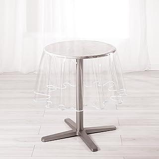 Douceur d'Intérieur Ligne Décor 1710581 GARDEN Nappe cristal ronde PVC Blanc 180 x 180 cm