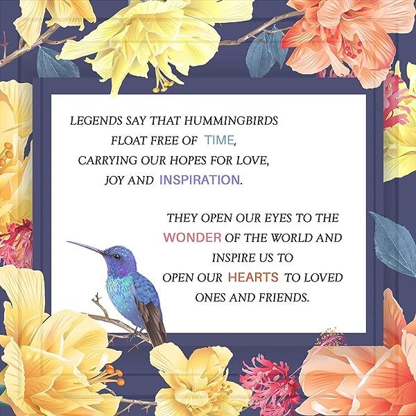 蜂鸟礼物 7x7 瓷砖艺术品专为蜂鸟爱好者准备的礼物专为鸟类爱好者准备的独特蜂鸟装饰品家居或办公室装饰艺术