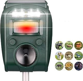 QingH yy Animal Repellent, Solar Animal Repeller, Rat, Équirrel, Derf, Raccon, Skunk, Lapin, Mole, Chien, Chat, Imperméabl...