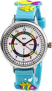 Easy Time Teller ETT102 Kid's White Dial Blue Rubber Strap Time Teaching Watch