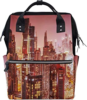 MIFSOIAVV Dreamy Landscape Sunset at Hill Clouds Mystery Contemplation Tranquil Wisdom School Travel Daypack