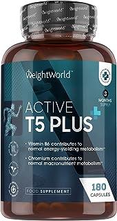 Active T5 Plus afslankpillen - Natuurlijke fat burner - Met cafeïne om de stofwisseling te stimuleren - 60 Krachtige Vetve...