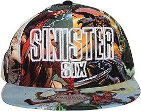 Bioworld Men's Licensed Sinister Six - Spiderman Sublimated Snapback Hat O/S Multi-Color