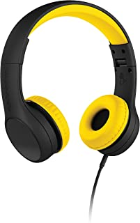 New! LilGadgets Connect+ Style Kids Premium Volume Limited Wired Headphones with SharePort (Children, Toddlers) - Black/Yellow