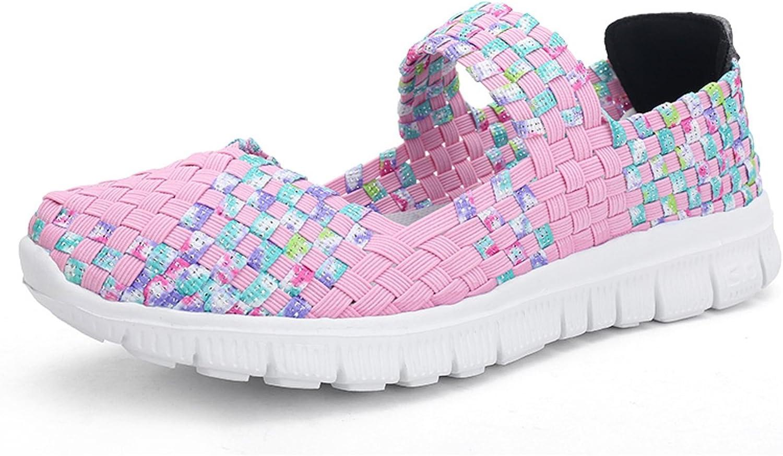 VenusCelia Women's Performance Woven Mary Jane Flat shoes