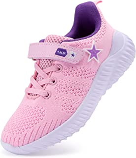 Sponsored Ad - YYZ Girls Tennis Shoes – Star Kids Sneakers Non Slip Comfortable Lightweight Breathable for Walking Trial R...