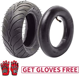 110/50-6.5 Tire and Inner Tube for 49cc Mini Pocket Rocket Bike,Thicker Tire and Tube 110 50 6.5,Free Red Gloves