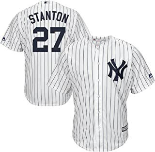 Giancarlo Stanton New York Yankees MLB Majestic Youth 8-20 White Home Cool Base Replica Jersey