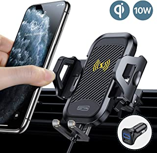 TORRAS Ultimate Car Wireless Charger Mount[Extreme Speed], Qi Super Fast Charging Air Vent Phone Holder for iPhone SE/11/11 Pro/11Pro Max/8 Plus/8/XR/XS Max Samsung Galaxy S10/S9/S8/Note 10/10+