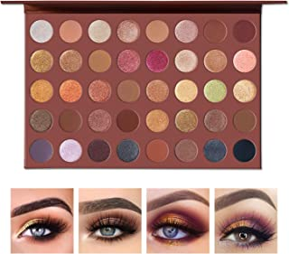 UCANBE Pro Choco Fusion Bronze Eyeshadow Makeup Palette, 40 Highly Pigmented Metallic Matte Shimmer Glitter Ultra Neutral Blendable Creamy Eye Shadow Pallet Set Kit