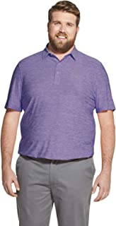 IZOD Men's Big and Tall Golf Title Holder Short Sleeves Polo