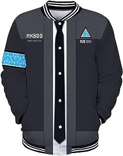 Unisex Hoodie with Detroit:Become Human 3D Print Baseball Jacket Sweatshirt