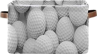 QMIN Panier de rangement en forme de balle de golf - Grande boîte de rangement pliable pour jouets - Panier à linge pliabl...
