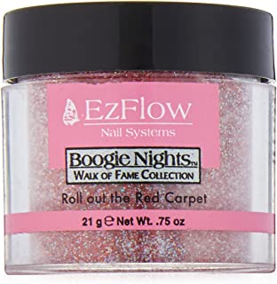 EZ Flow Walk of Fame Glitter Roll Out The Red Carpet False Nails, 0.75 Ounce