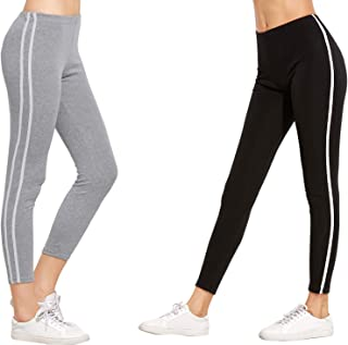 DTR FASHION Women's Side Stripped Jegging_Jogger pant For Women_Black_Combo Pack of 2_COMBOPACK_J41