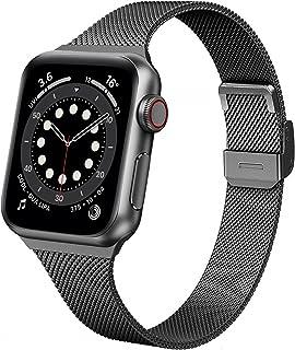 Seltureone bransoletka zastępcza kompatybilna z Apple Watch 38 mm, 40 mm, metalowa, stal nierdzewna, kompatybilna z iWatch...