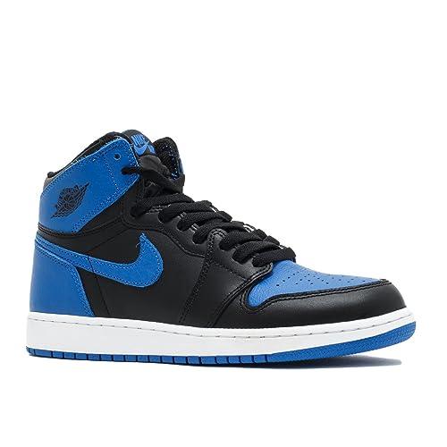 6d09f61417ce79 Nike Kids Air Jordan 1 Retro High OG BG Black White 575441-007 (